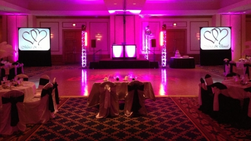 AME Wedding - Up Lighting Decor, Club Lighting and Video Projection